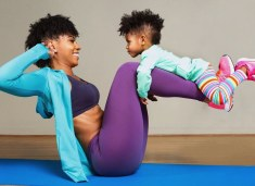 black mom exercising